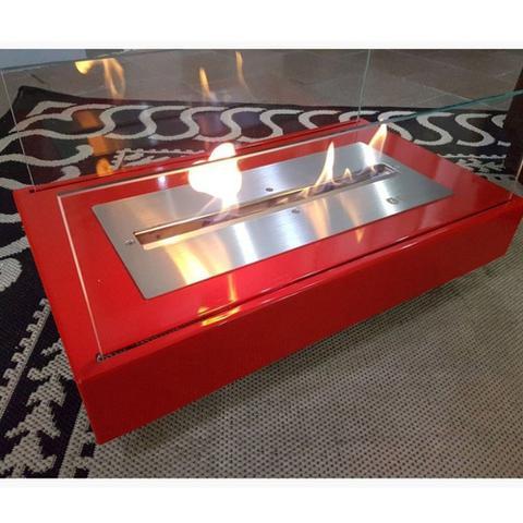 Imagem de Lareira Ecológica A Álcool 92 Em Aço Carbono Colors Vermelho - Classe A