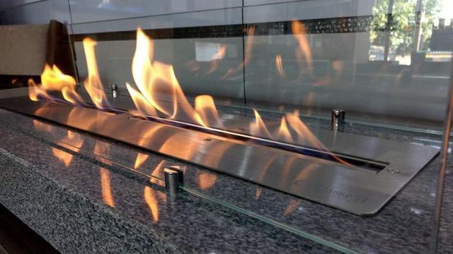 Imagem de Lareira Ecológica a Álcool Aço Inox 304 (queimador 80 Duplo=2x40cm)