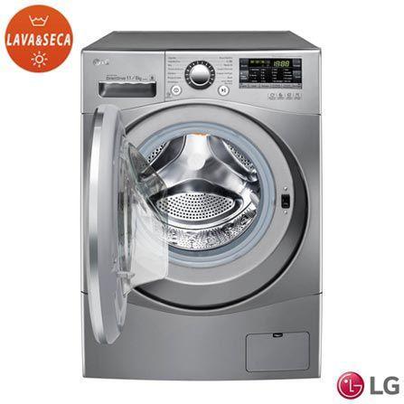 Imagem de Lava e Seca LG 11kg Inox WD11EP6 - Touch 14 Programas de Lavagem 127V