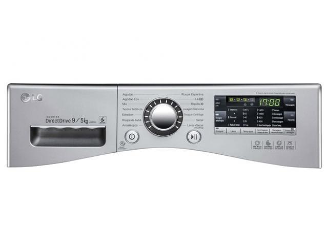Imagem de Lava e Seca LG Prime Touch Aço Escovado 9Kg 220V  WD9EP6