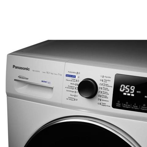 Imagem de Lava e Seca Panasonic NA-S107F2WBR, 10Kg, Inverter Água Quente, Branco - 220V
