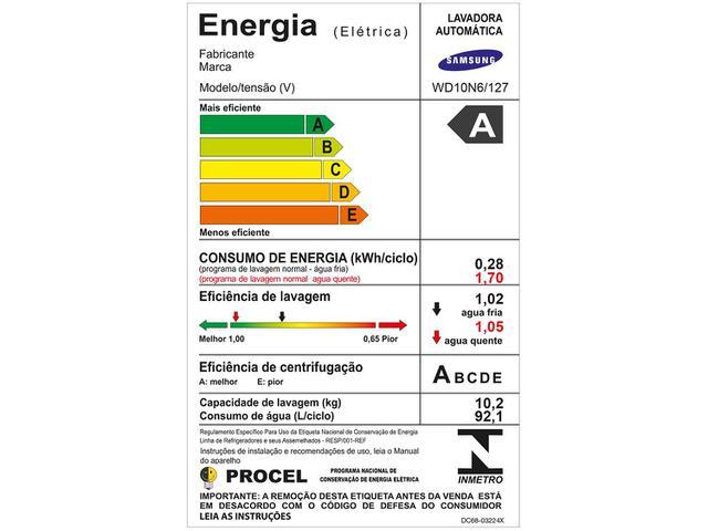 Imagem de Lava e Seca Samsung 10,2kg WD10N64FOOX/AZ