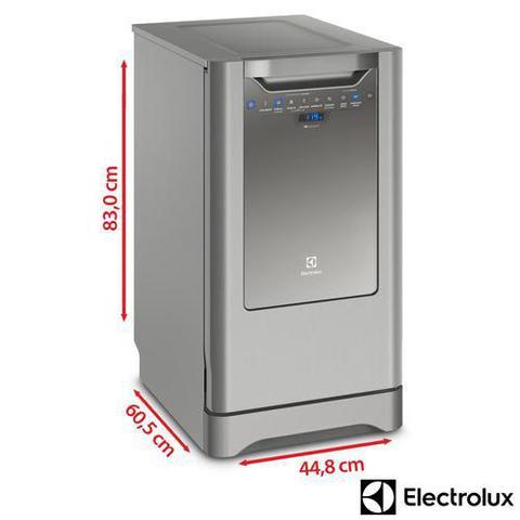 Imagem de Lava-Louça Electrolux Inox com 10 Serviços, 06 Programas de Lavagem e Painel Blue Touch - LV10X