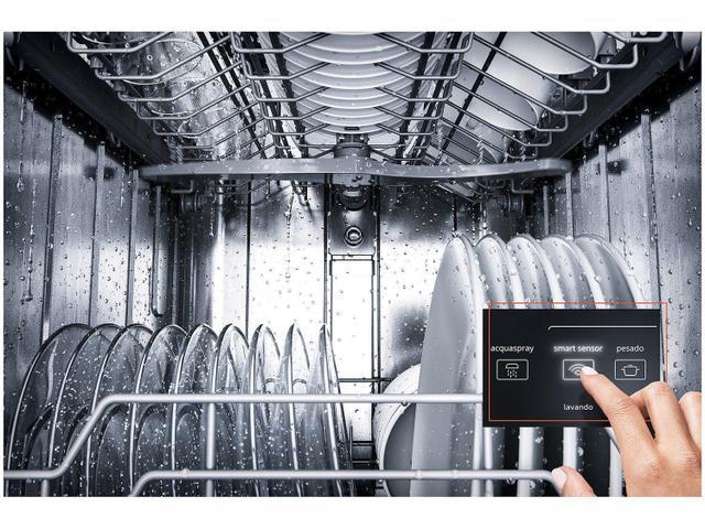 Imagem de Lava-Louças 10 Serviços Brastemp Cor Inox com Ciclo Pesado BLF10BR - 127v