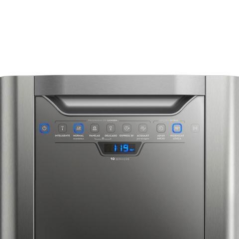 Imagem de Lava-Louças 10 Serviços Electrolux LV10X, Inox, 110V