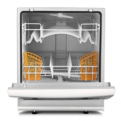 Imagem de Lava Louças Compacta 8 Serviços com Ciclo Pesado Ative Brastemp 127V Branco