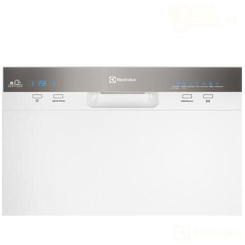 Imagem de Lava-Louças Electrolux Branca com  08 Serviços, 07 Programas de Lavagem e Painel Blue Touch - LL08B