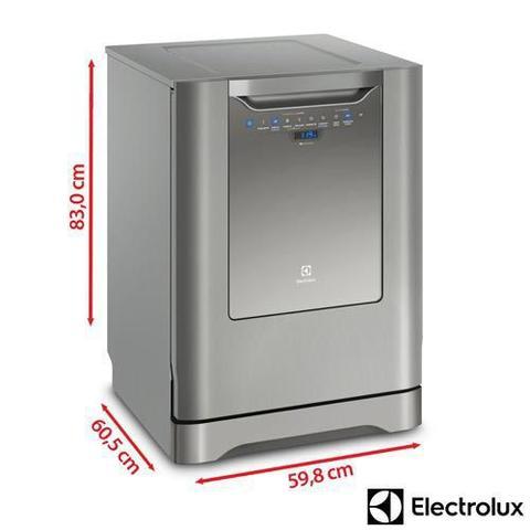 Imagem de Lava-Louças Electrolux Inox com 14 Serviços, 06 Programas de Lavagem e Painel Blue Touch - LV14X