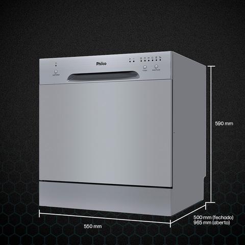 Imagem de Lava-louças Eletrônica Philco PLL08I 8 Serviços 110v