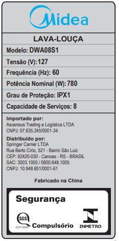 Imagem de Lava Louças Midea 8 Serviços Cinza