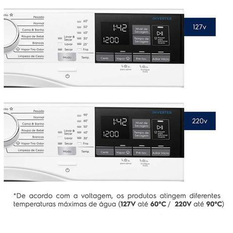 Imagem de Lava & Seca 11 Kg Electrolux Perfect Care Branca com 15 Programas de Lavagem - LSP11