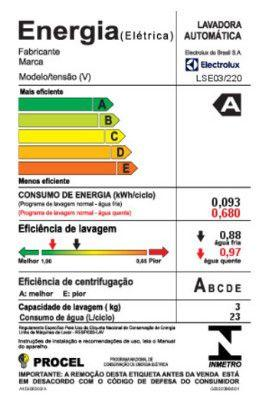 Imagem de Lava  Seca Electrolux Mini  Duo (LSE03)
