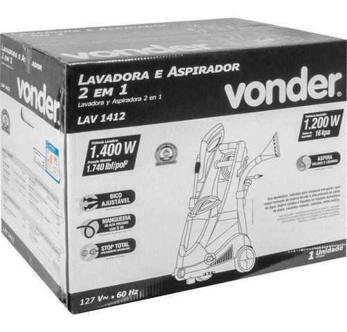 Imagem de Lavadora Aspirador 2 Em 1 Vonder 1400 E 1200w Alta Pressão 220v