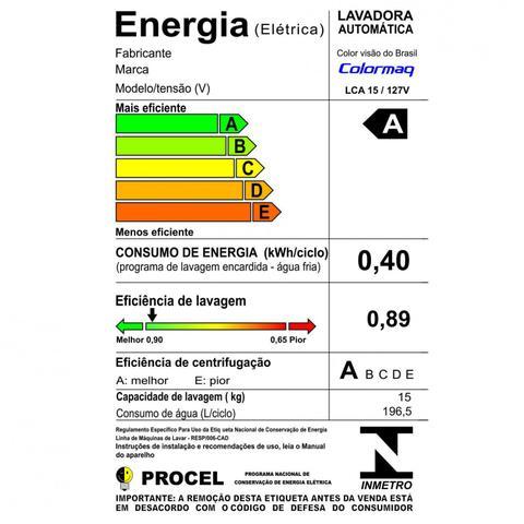 Imagem de Lavadora Automática 15kg LCA15 Colormaq 127V Branco