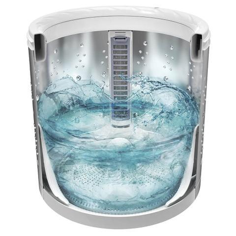 Imagem de Lavadora Branca com Dispenser Autolimpante e Cesto Inox Electrolux (LAI17)