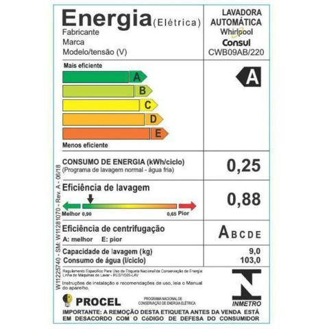 Imagem de Lavadora Consul CWB09 9kg Dosagem Extra Econômica e Ciclo Edredom
