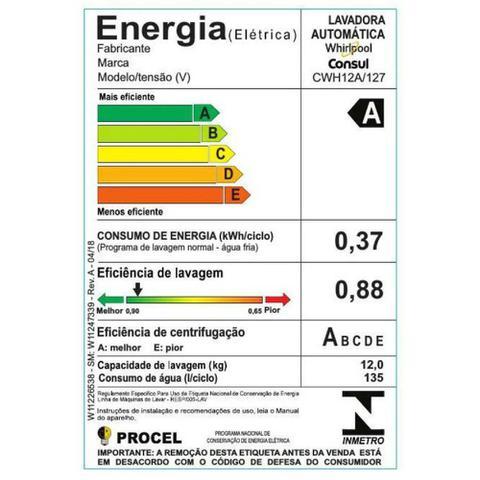 Imagem de Lavadora Consul CWH12 12kg Dosagem Econômica e Ciclo Edredom