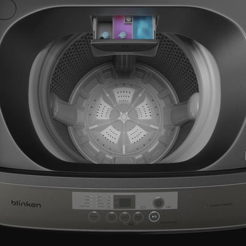 Imagem de Lavadora de Roupas Blinken BLK15TB 15Kg com Lavagem Inteligente e Programada Titânio