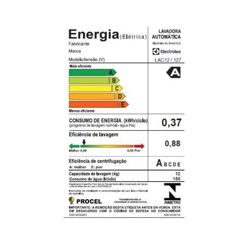 Imagem de Lavadora de Roupas Electrolux Compacta 12kg Branca 127v