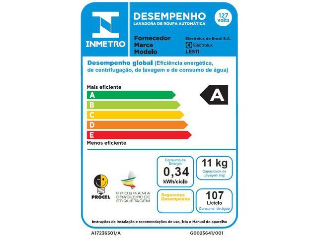 Imagem de Lavadora de Roupas Electrolux Essencial Care LES11