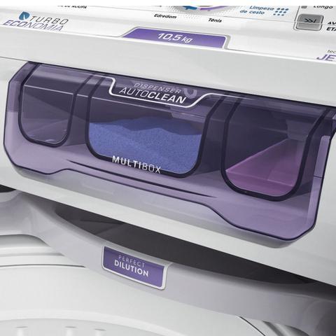 Imagem de Lavadora de Roupas Electrolux LAC11 Automática 10,5Kg Sistema Jet & Clean Branco