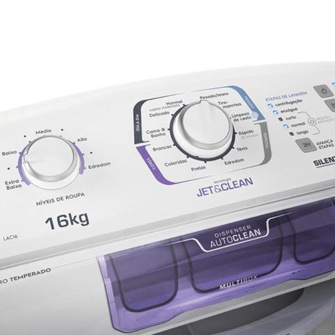 Imagem de Lavadora de Roupas Electrolux LAC16 Automática Silent Control 16Kg Branca - 220V