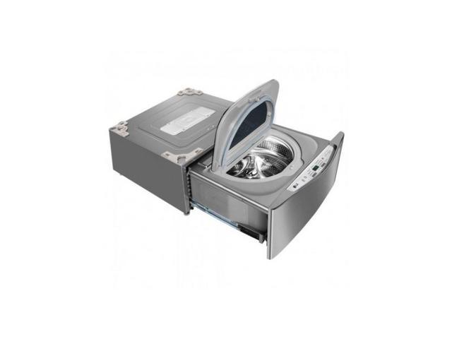 Imagem de Lavadora de Roupas LG TwinWash Mini 2Kg Lunar Aço Escovado  WD2100VM  220V