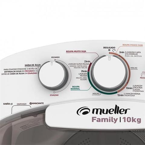 Imagem de Lavadora De Roupas Semiautomática Mueller Family 10Kg Branca 220V
