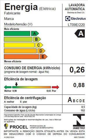 Imagem de Lavadora Electrolux  com Turbo Agitação Capacidade 8,5Kg (LT09E)