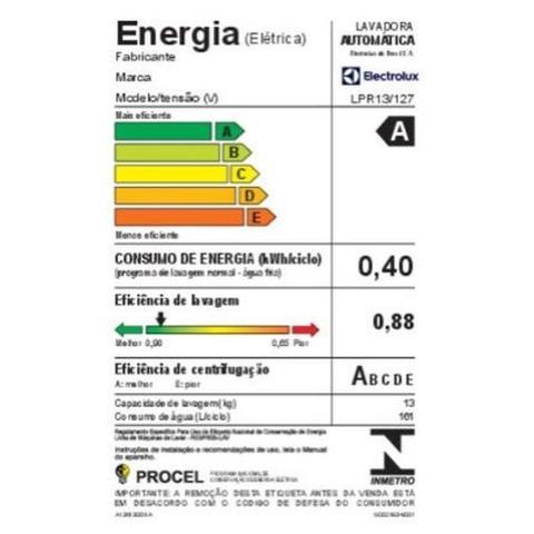Imagem de Lavadora Electrolux Lpr13 13kg