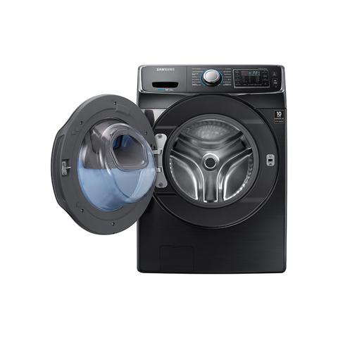 Imagem de Lavadora Samsung WF15K com Ecobubble e Porta AddWash WF15K6500AV Black Inox 15Kg