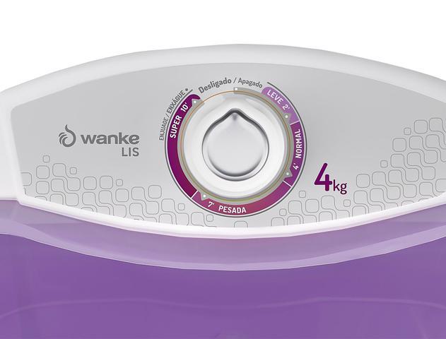 Imagem de Lavadora Semiautomática Lis 4 Kg + Centrífuga Sofia Mais C/ Timer 15 Kg - Lilás - Wanke