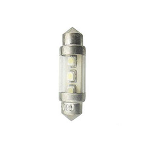 Imagem de Led Torpedo 28MM 24V - 02 Leds - Branco (AL258)
