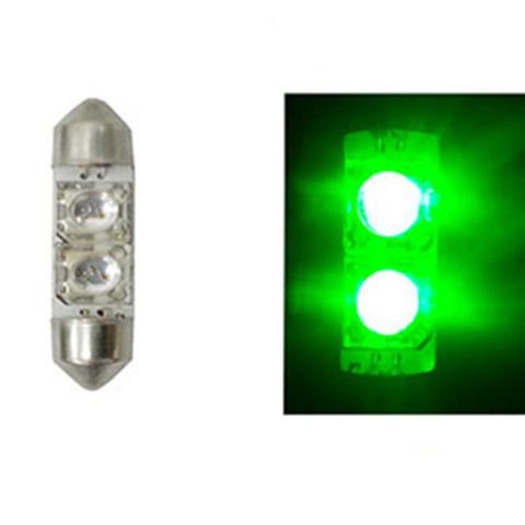 Imagem de LED Torpedo 36MM 12V - 2 LED 5W - Verde (AP386)