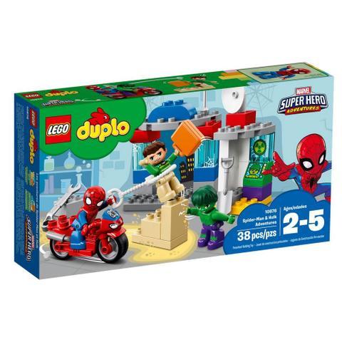 Imagem de LEGO DUPLO - Marvel Super Hero Adventure - Spider-Man  Hulk - 10876