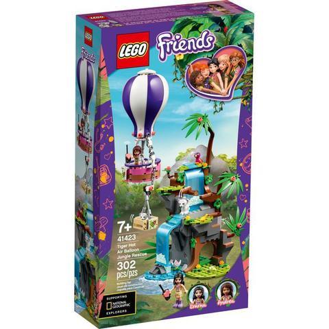 Imagem de Lego Friends - Resgate do Tigre na Selva com Balão - 41423