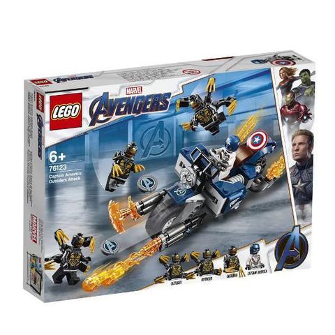 Imagem de Lego Marvel Super Heroes Capitao America Ataque Outriders 76123