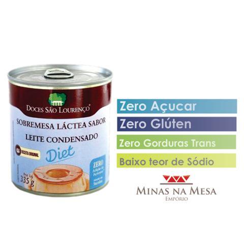 Imagem de Leite Condensado Diet Zero Açúcar Sem Glúten 335g Caixa com 3 Unidades Doces São Lourenço