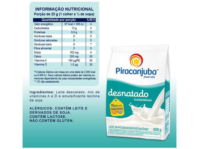 Imagem de Leite em Pó de Vaca Desnatado Piracanjuba