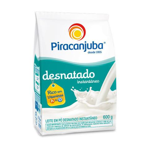 Imagem de Leite Em Pó Piracanjuba Desnatado Instantâneo 600g