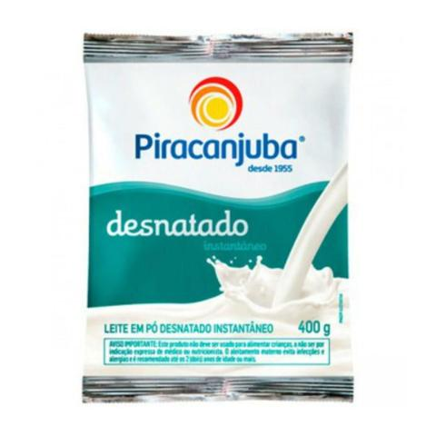 Imagem de Leite em Pó Piracanjuba Desnatado Instantâneo Sachê 400g Embalagem c/ 25 Unidades