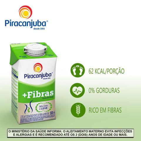 Imagem de Leite Piracanjuba Desnatado +Fibras 500ml