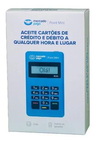 Imagem de Leitor De Cartão  Conexão Via Bluetooth Point Mini Bluetooth D150 Azul