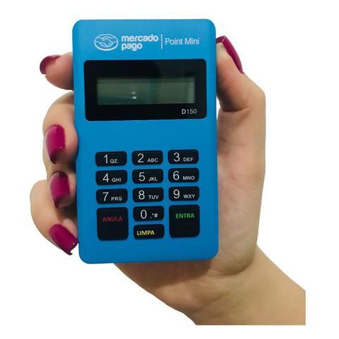 Imagem de Leitor Maquininha de Cartão Point Mini D150 Ifood Bluetooth Azul - MP