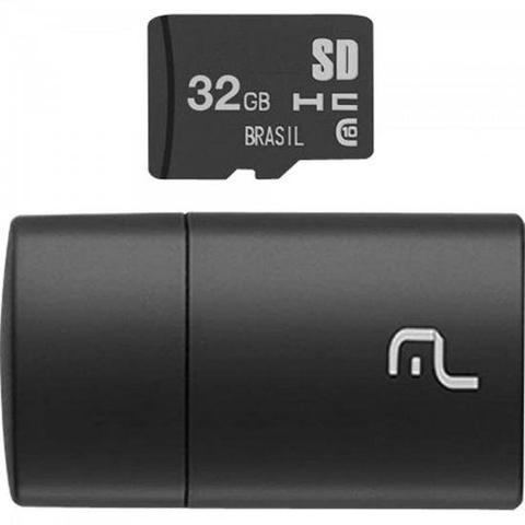 Imagem de Leitor USB com Cartão SD 32GB MULTILASER