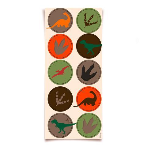 Imagem de Lembrancinha Adesivos Redondo Mundo dos Dinossauros 03 cartelas Cromus