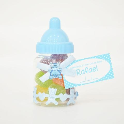 Imagem de Lembrancinha de Maternidade Mamadeira Azul com Balas de Goma