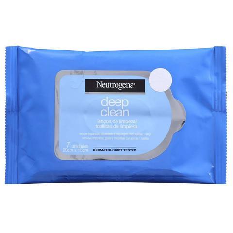 Imagem de Lenço De Limpeza Facial Demaquilante Neutrogena 7 Unidades