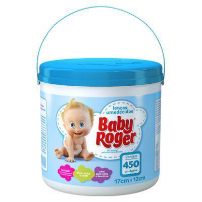 Imagem de Lenços umedecidos baby roger balde 450 un.azul