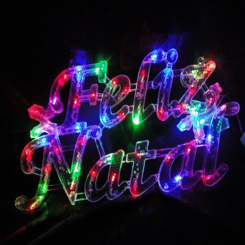 Imagem de Letreiro Luminoso Decorativo 35 LEDs Feliz Natal 110v 1855